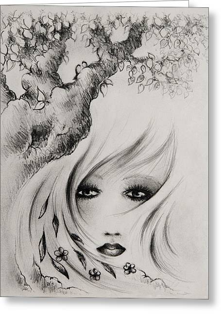 Intrigue Drawings Greeting Cards - A New Year Greeting Card by Rachel Christine Nowicki