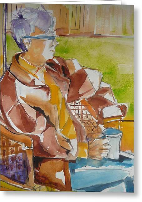 A Nice Cup Of Tea Greeting Card by Suzanne Willis