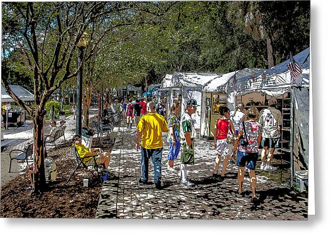 A Nice Day In The Park Art Show Greeting Card by Rich Franco