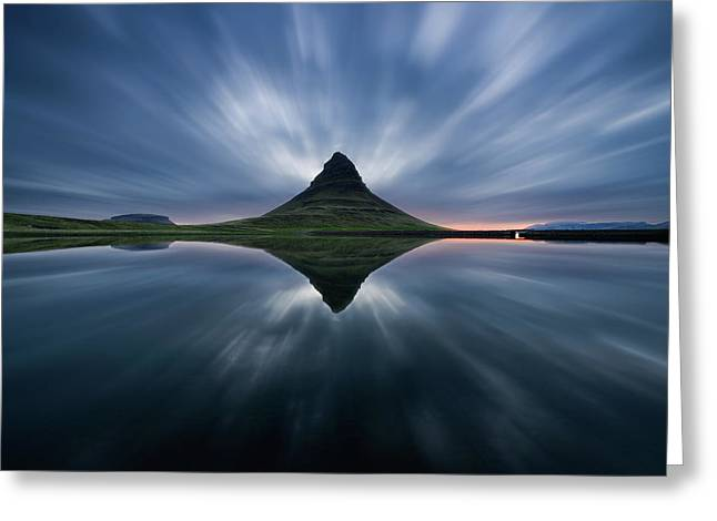 A Night At Kirkjufell Greeting Card by Simon Roppel