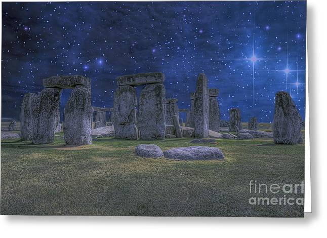 A Night At Stonehenge Greeting Card by Darren Wilkes