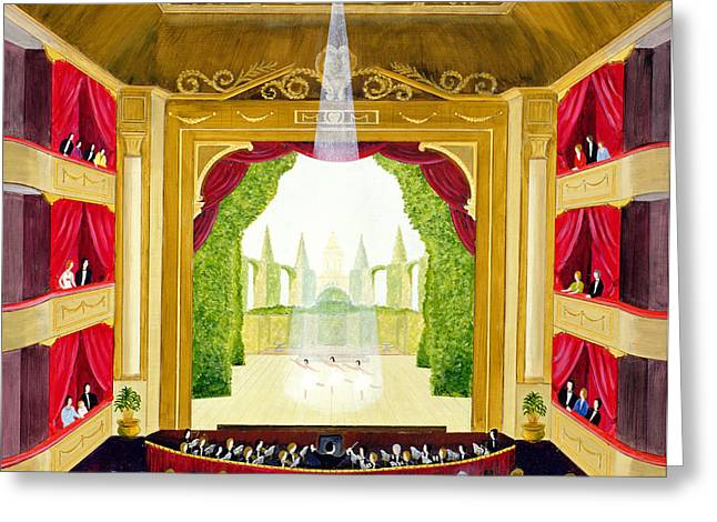 Spotlight Greeting Cards - A Night At The Ballet Greeting Card by Mark Baring
