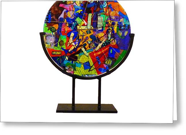 Layer Glass Art Greeting Cards - A Night At The Carnival Greeting Card by Mark Lubich