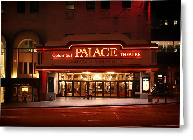 Recently Sold -  - Theater Greeting Cards - A Night at the Palace - Columbus Ohio Greeting Card by Mountain Dreams