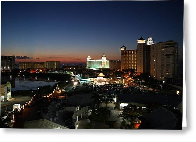 Cancun Greeting Cards - A Night in Cancun Greeting Card by Mountain Dreams