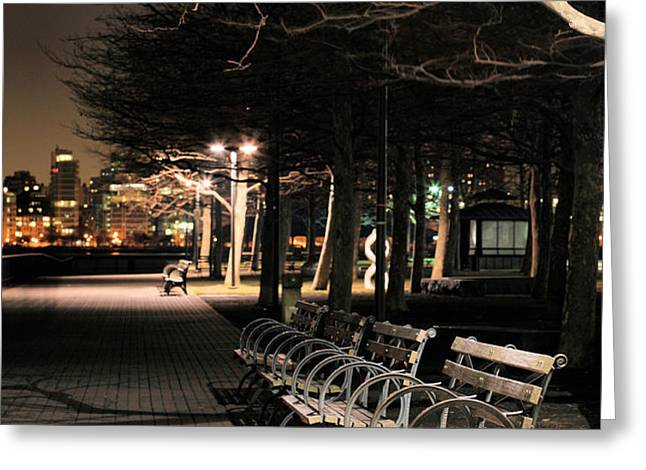 A Night in Hoboken Greeting Card by JC Findley