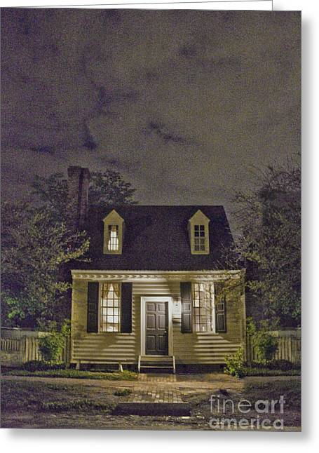 Entrance Door Greeting Cards - A Night In Greeting Card by Margie Hurwich