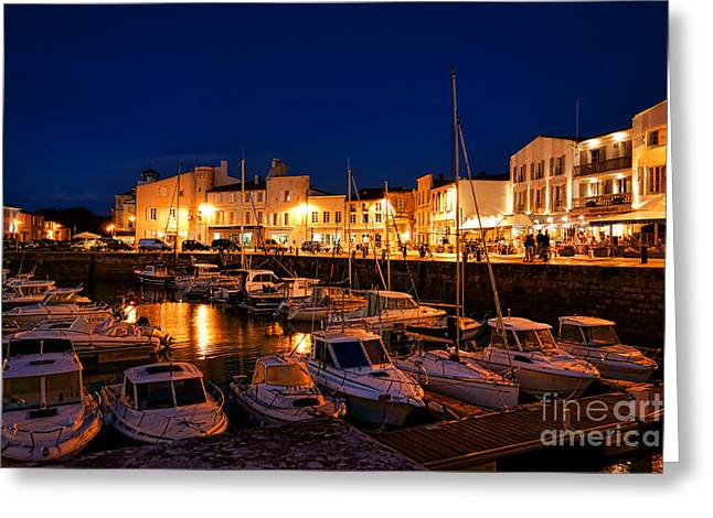Saint-martin Greeting Cards - A Night in Saint Martin Greeting Card by Olivier Le Queinec