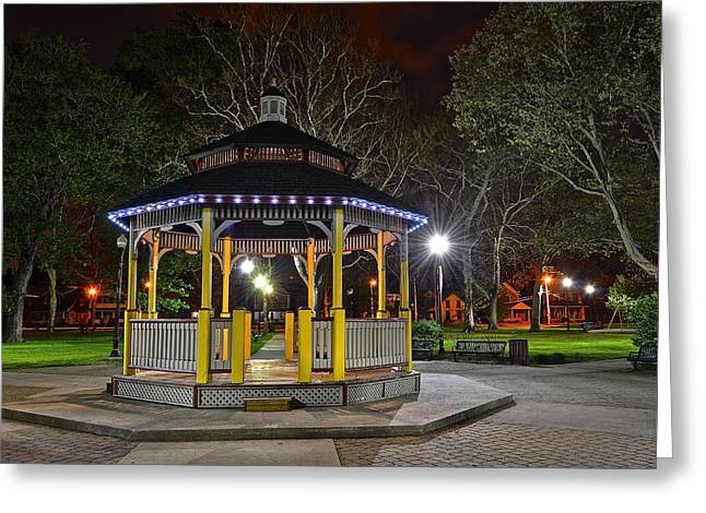 Stroll In The Park Greeting Cards - A Night in the Park Greeting Card by Frozen in Time Fine Art Photography