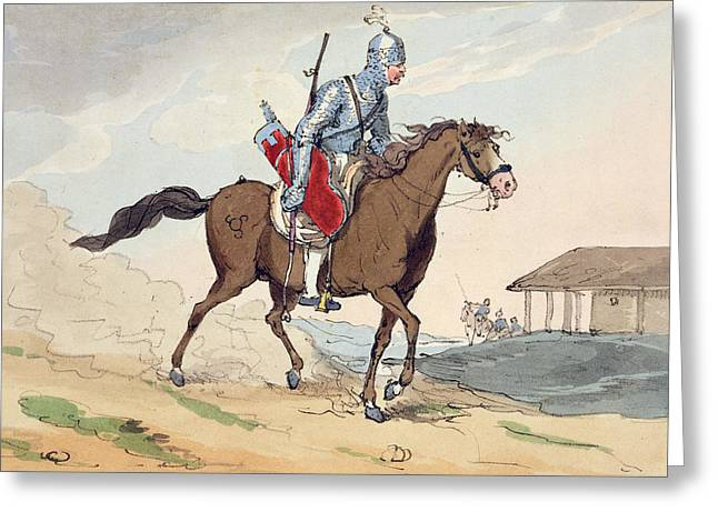 Trot Greeting Cards - A Noble Tcherkesse Greeting Card by John Augustus Atkinson