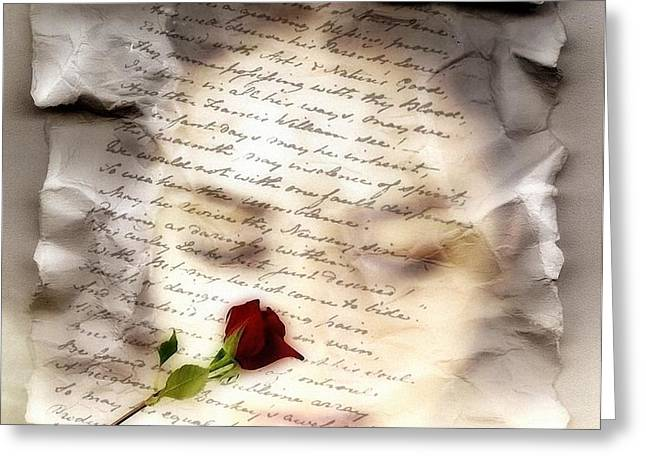 A note and she was gone Greeting Card by Gun Legler