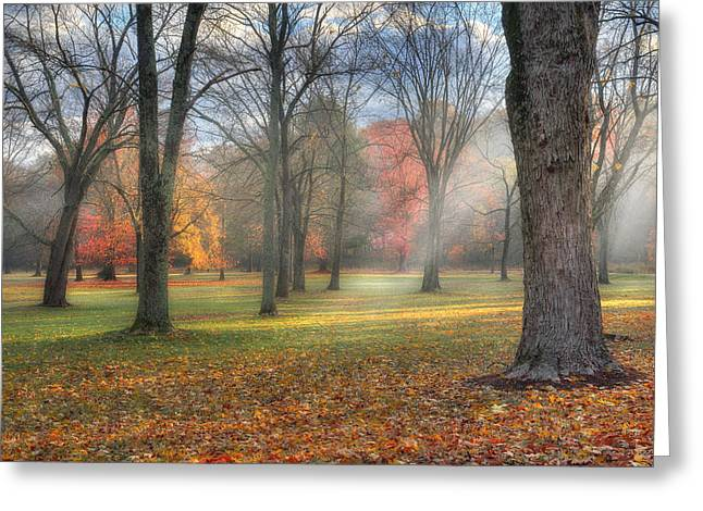 Light Rays Greeting Cards - A November Morning Greeting Card by Bill  Wakeley
