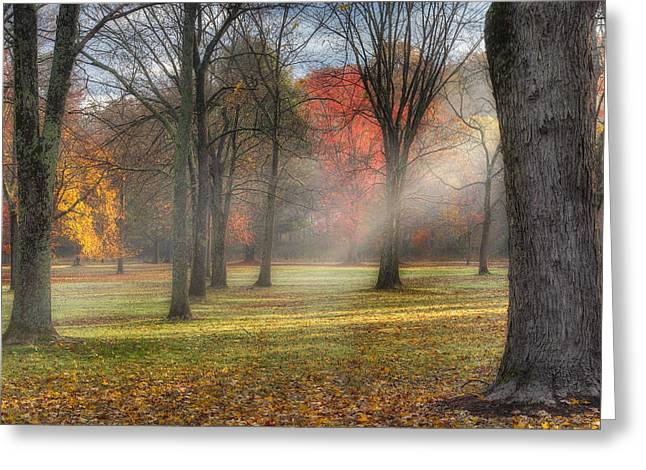 Surreal Landscape Photographs Greeting Cards - A November Morning Square Greeting Card by Bill  Wakeley