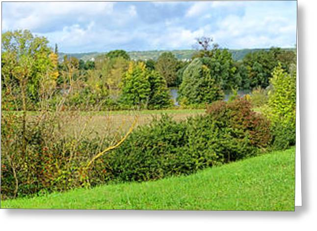 Impressionist Greeting Cards - A Painter Landscape Greeting Card by Olivier Le Queinec
