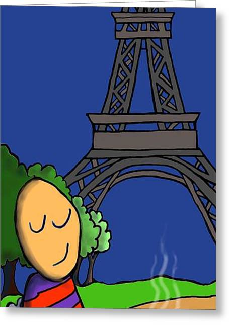 A Paris Greeting Card by Michelle Berger