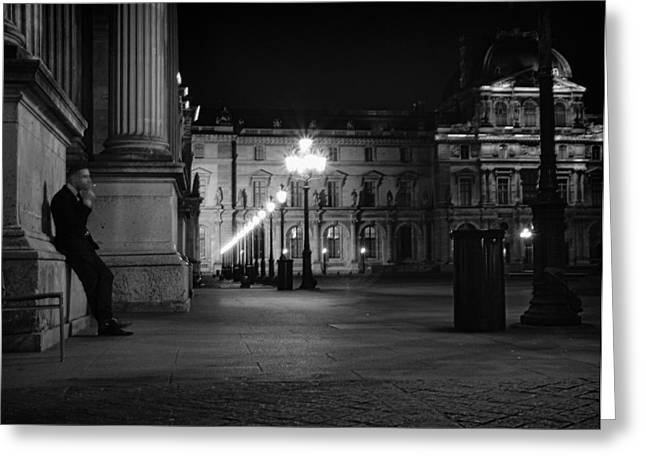 Paris In Lights Greeting Cards - A Parisian Work Break - Classic Paris Photography Greeting Card by Laria Saunders