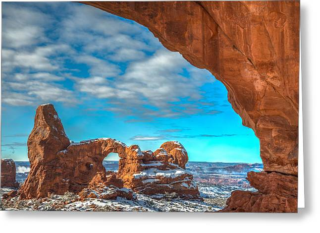 Southern Utah Greeting Cards - A Partial View Greeting Card by Dustin  LeFevre
