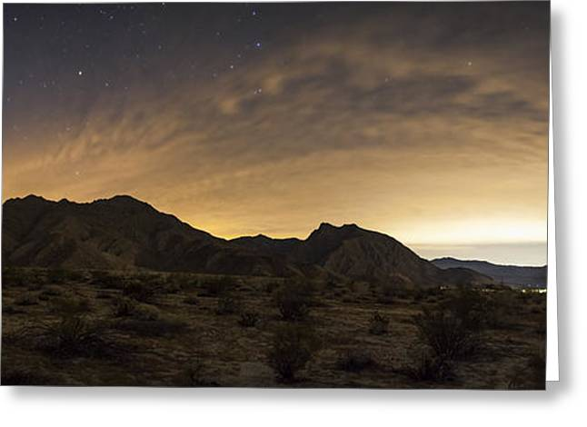 Clouds Over Canyon Greeting Cards - A Partly Coiudy Sky Over Borrego Greeting Card by Dan Barr