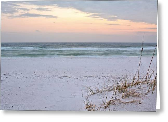 Florida Panhandle Greeting Cards - A Pastel Sunrise Greeting Card by JC Findley