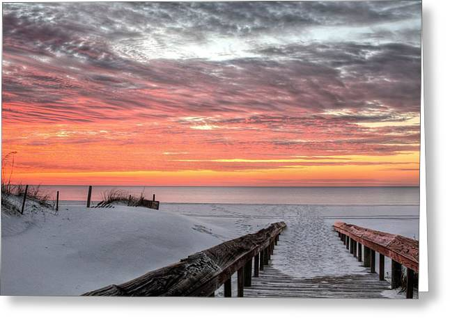 South West Florida Greeting Cards - A Path to Paradise in Orange Beach Greeting Card by JC Findley