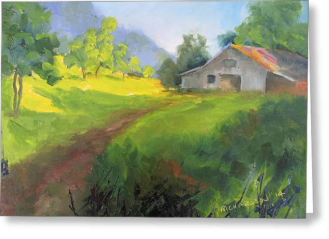 Pastureland Greeting Cards - A Path Well Traveled Greeting Card by Susan Richardson