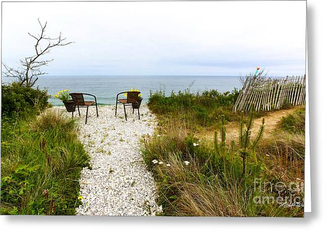 Respite Greeting Cards - A Peaceful Respite by the Shore Greeting Card by Michelle Wiarda