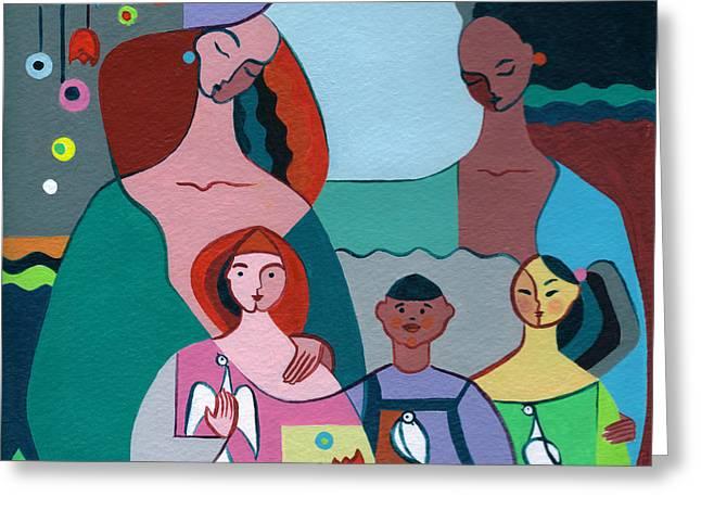 Elisabeta Hermann Greeting Cards - A Peaceful World for our Children Greeting Card by Elisabeta Hermann