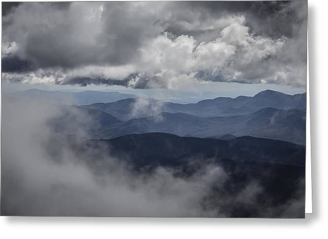 Altitude Greeting Cards - A peek through the clouds Greeting Card by Chris Fletcher