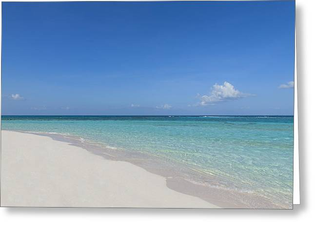 Tropical Island Greeting Cards - A Perfect Beach Greeting Card by Stephen Anderson
