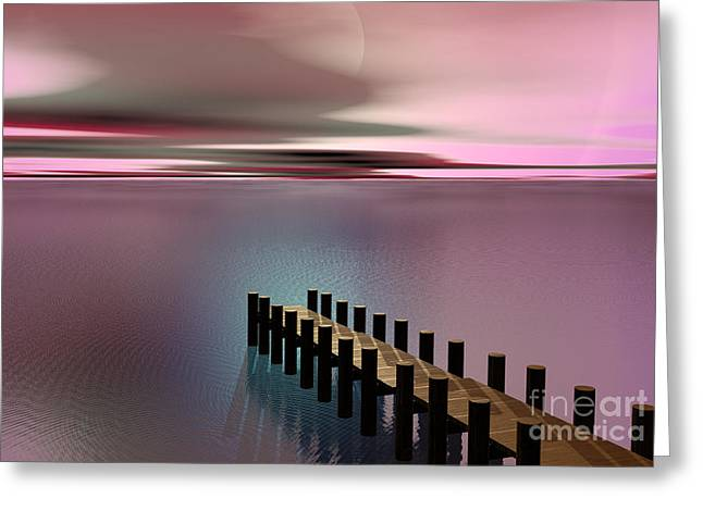 Swood Pier Greeting Cards Greeting Cards - A Perfect Calm Greeting Card by Barbara Milton