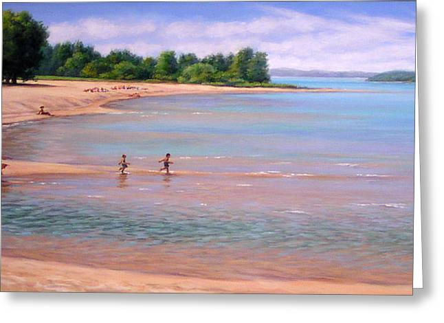 Elk Rapids Greeting Cards - A Perfect Day Greeting Card by Robert Perrish