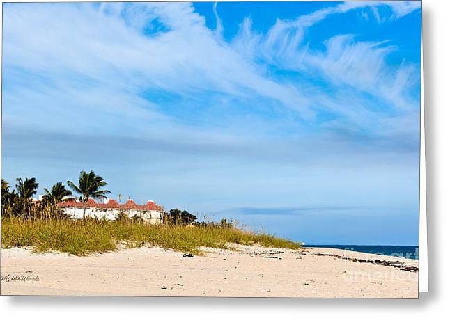 Walk On The Beach Greeting Cards - A Perfect Day To Walk On The Beach Greeting Card by Michelle Wiarda