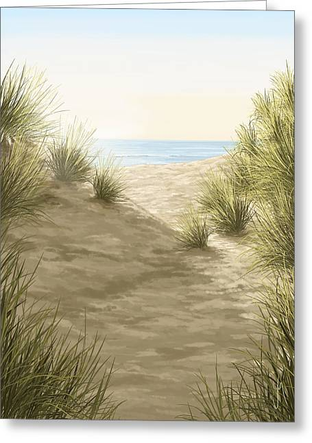Tropical Beach Digital Greeting Cards - A perfect day Greeting Card by Veronica Minozzi