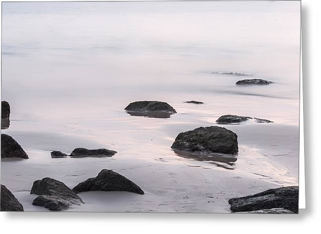 Ethereal Beach Scene Greeting Cards - A Perfect End to the Day Greeting Card by Nomad Art And  Design