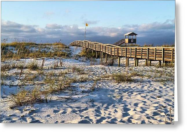 Florida Panhandle Greeting Cards - A Perfect Morning Greeting Card by JC Findley