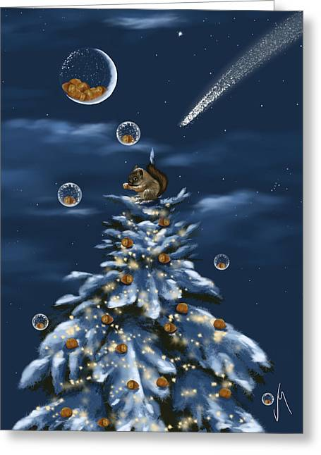 Snow Tree Prints Digital Greeting Cards - A perfect present Greeting Card by Veronica Minozzi