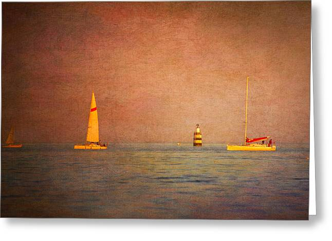 A Perfect Summer Evening Greeting Card by Loriental Photography