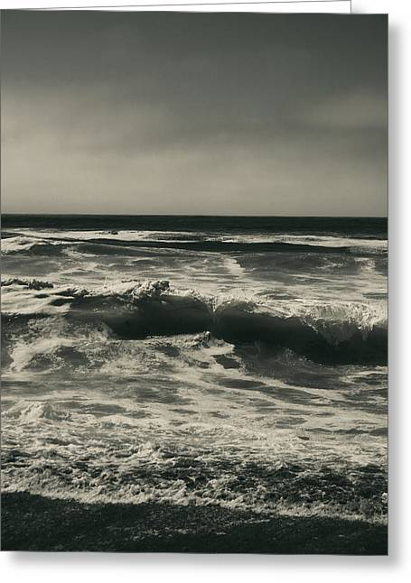 Waves Splash Greeting Cards - A Permanent Sadness Greeting Card by Laurie Search