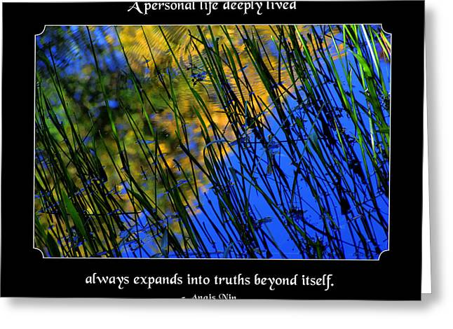Be Here Now Greeting Cards - A Personal Life Deeply Lived Greeting Card by Mike Flynn