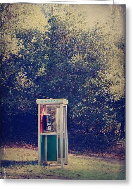 Telephone Booth Greeting Cards - A Phone in a Booth? Greeting Card by Laurie Search