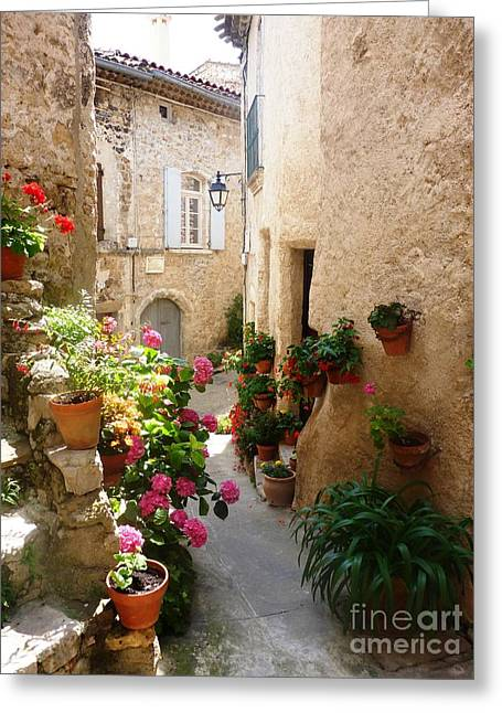 Provence Village Greeting Cards - A Picturesque Village of France Greeting Card by Cristina Stefan