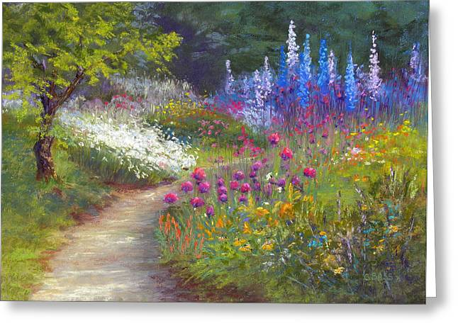 Pathway Pastels Greeting Cards - A Piece Of Heaven Greeting Card by Christine Bass