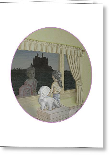 Daydream Drawings Greeting Cards - A Pink Daydream Greeting Card by James Willoughby III