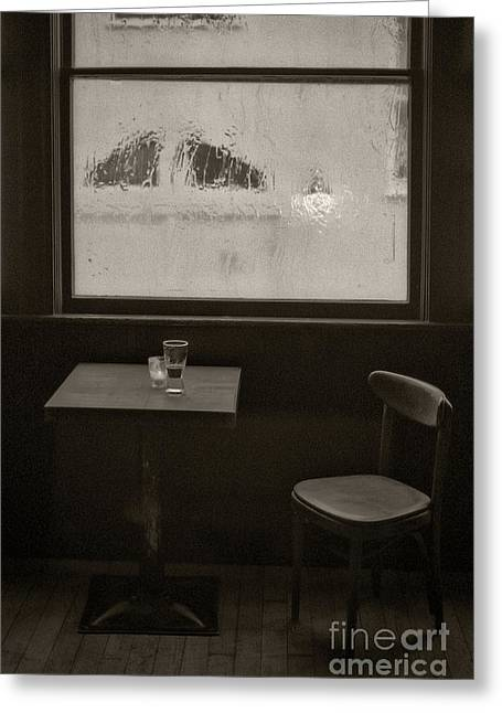 Owner Digital Greeting Cards - A Pint Of Beer On A Rainy Day Greeting Card by Michael Braham