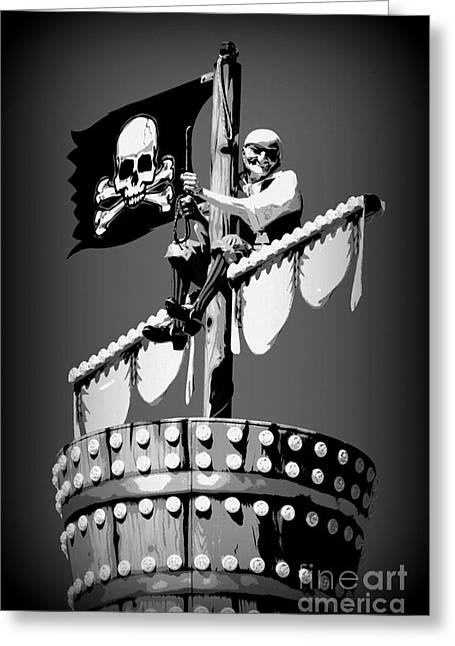 Pirate Ships Greeting Cards - A Pirates Mate Greeting Card by Richard W Burdett