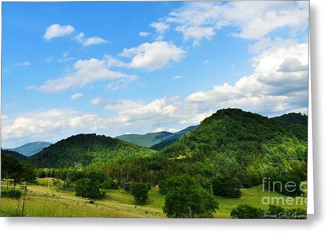 Pendleton County Greeting Cards - A Place Called Buffalo Hills Greeting Card by Teena Bowers