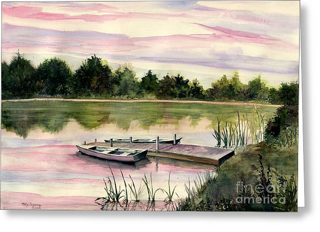 Finger Lakes Paintings Greeting Cards - A Place In My Heart Greeting Card by Melly Terpening