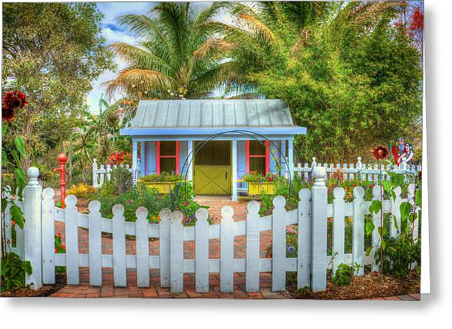 Florida House Greeting Cards - A Place in the Sun Greeting Card by Mountain Dreams