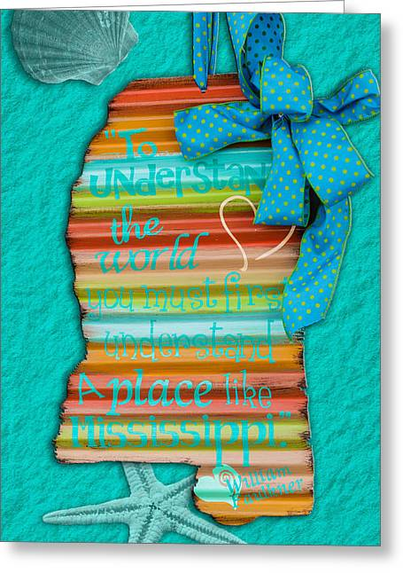 A Place Like Mississippi Greeting Card by Sennie Pierson