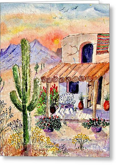 Entryway Paintings Greeting Cards - A Place Of My Own Greeting Card by Marilyn Smith